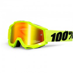 Masque cross 100% Accuri Fluo Yellow iridium lens